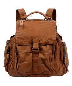 OLD TREND Chestnut Leather Rover Backpack | zulily