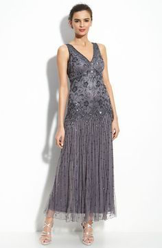 Pisarro Nights Beaded Mesh Dress available at #Nordstrom