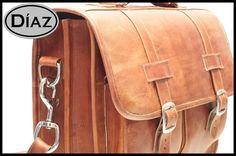 DIAZ Medium Leather Messenger Briefcase / Backpack by DiazBags, $285.00