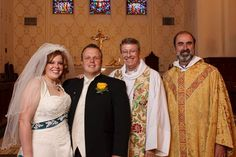 Wedding day for Sarah Routson and Matt Webster. Mark Goodman, dean, Cathedral Church of St. John, Albuquerque, graciously allowed me to officiate at the vows while he presided at Eucharist.
