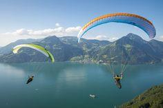 skywalk ARRIBA3 green blue paraglider lightweight