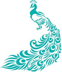 Turquoise Peacock stencil