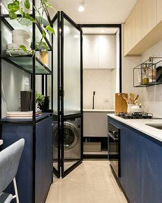 Small Apartment Interior, Kitchen Interior, Kitchen Design, Interior Design Pictures, Beautiful Interior Design, Small Apartments, Small Spaces, Archi Design, Bathroom Design Luxury