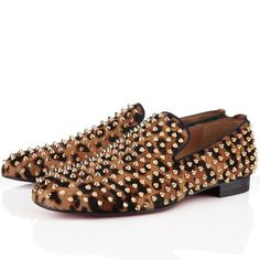 Christian Louboutin Rollerboy Spikes Leopard Men's Sneakers  $775.00  $146.77  Save: 81% off
