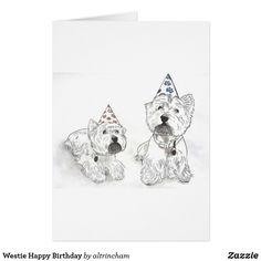 De Gelukkige Verjaardag van Westie Kaart