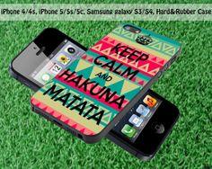 Keep Calm Hakuna Matata for iPhone 4 / 4S iPhone 5S by FASTYCorner, $13.00