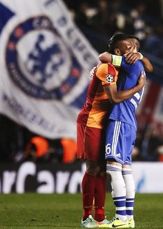 Didier Drogba and John Terry. Chelsea Blue, Fc Chelsea, Football Is Life, Football Soccer, Chelsea Fc Players, Famous Sports, Football Photos, Sports Stars, Football Players