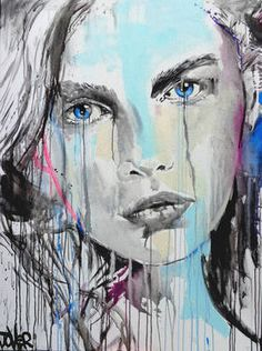 "Saatchi Art Artist Loui Jover; Drawing, ""echo"" #art"