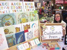 Cuddlefish Press Craft Fair Display