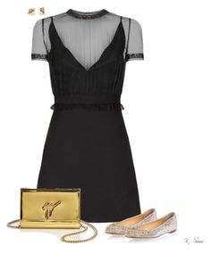 """Conservative with a little edge"" by ksims-1 ❤ liked on Polyvore featuring Valentino, Giuseppe Zanotti and Ruth Tomlinson"