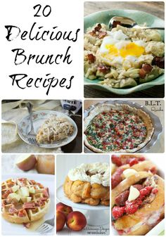 Get ready for Easter and Mother's Day with this amazing group of 20 delicious recipes for the perfect brunch. #recipes #brunch