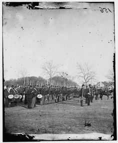 Beaufort, S.C. 50th Pennsylvania Infantry in parade formation - 1862 February