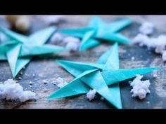Tissue Star Origami Christmas Ornaments - Lia Griffith