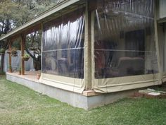 Clear Vinyl Patio Enclosure Weather Curtains Lewis Residential Project Traditional Greenhouses Other Metro Southern Enclosures