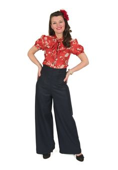 Eliza M Vintage Style Sewing Patterns, Pussy Galore Blouse - Advanced Beginner