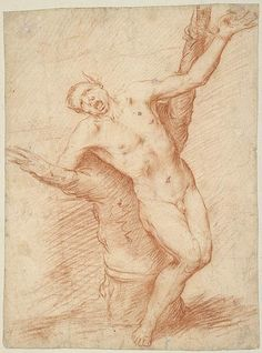 José de Ribera | Marsyas Bound to a Tree | Drawings Online | The Morgan Library & Museum