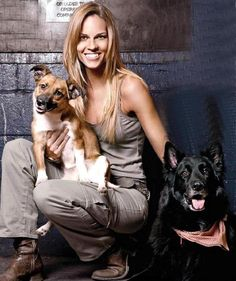 I Hate Dog Breeders  ♥ CELEBRITIES WHO ADOPT THEIR DOGS:    Karoo and Rumi (Adopted by Hillary Swank) — with Christina Russo-Macinty
