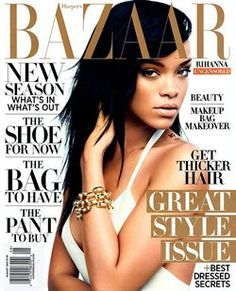 Camilla Akrans once again captures Rihanna for the pages of Harper's BAZAAR August issue Everything is all white for the August issue. Harper's BAZAAR August 2012 Model: Rihanna Style Rihanna, Rihanna Cover, Rihanna Fenty, Rihanna Fashion, Rihanna Baby, Bridget Jones, Chris Brown, Harpers Bazaar, Camilla