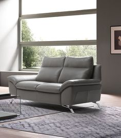 Natuzzi Editions Orlando Loveseat with Two Recliners