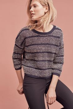 Twinkled Stripe Pullover