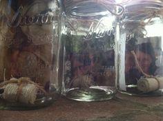 DIY mason jar bridesmaid gift.