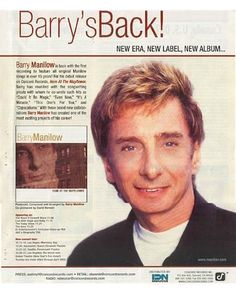 barry manilow magazines | 188 best images about Manilow Miscellaneous on Pinterest ...