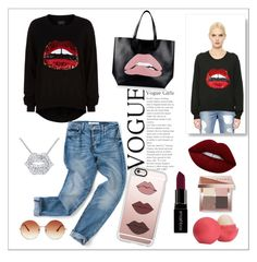 """""""#35 Lips !"""" by andreea-cris ❤ liked on Polyvore featuring Simone I. Smith, Markus Lupfer, Lime Crime, Smashbox, Eos, Casetify, Bobbi Brown Cosmetics, RED Valentino, Topshop and andreea"""