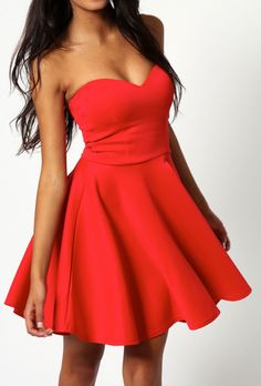 Red skater dress cool #fashion ideas #fashion inspiration #style #sexy #cute #season #color #elite #gorgeous #fall #summer #spring #winter #girl #woman #women #pretty  #clothing