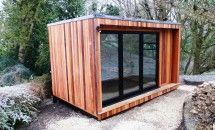 Even in -6 Deg a Contemporary Garden Room is a comfortable place to be... 4.2mx2.4m