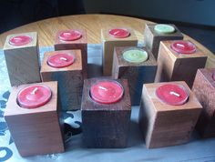 Wood Candle Holder Set 11/Christmas by DivineRusticCreation, $30.00