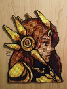 Yes, once more here is another fire emblem portrait style perler beads.  Maybe the one with the most trouble because I wasn't sure to actually get enough beads to finish it.  As always I'...