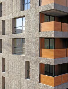 "Prefabricados. paneles de GRC (http://es.wikipedia.org/wiki/GRC) ""CasaNova"" Social Housing / cdm architetti associati © Andrea Martiradonna"
