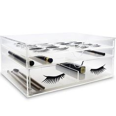 ab141ffd090 Rebrilliant Acrylic Cosmetic Organizer with Rubber Dots Ikea Drawers, Lash  Room, Beauty Room,