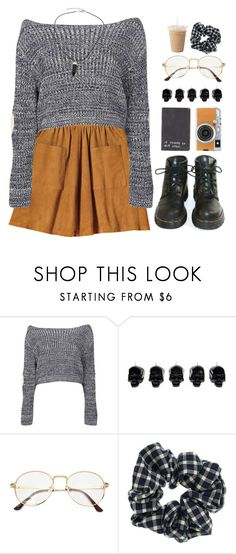 """this ticonderoga"" by ai-m ❤ liked on Polyvore featuring Guide London, Boohoo, Dr. Martens, Fujifilm, D.L. & Co. and Topshop"