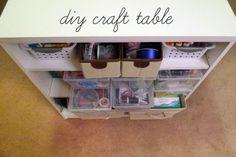 DIY Craft Table | Simply2B.com Shoe Rack, Diy And Crafts, Crafty, Creative, Table, Room, Design, Bedroom, Shoe Racks