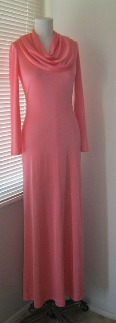3 DAY SALE Vintage Halston Maxi Dress by jhgfashion on Etsy, $60.00