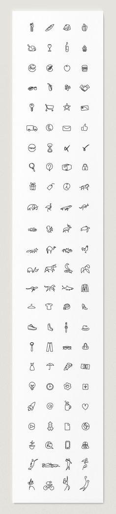 Символы, созданные одной линией / Differantly
