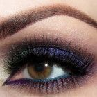 Blue + Green + Purple Eyeshadow with Purple + Teal Eyeliner Awesome Gorgeous Eyes, Pretty Eyes, Gorgeous Makeup, Body Makeup, Kiss Makeup, Hair Makeup, Teal Eyeliner, Purple Eyeshadow, Makeup Tips