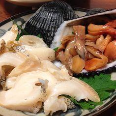 七尾で獲れた赤貝とバイ貝♪ - @Christina Corbosiero- #webstagram