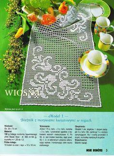 "Photo from album ""Moje robotki on Yandex. Filet Crochet, Irish Crochet, Knit Crochet, Picnic Blanket, Outdoor Blanket, Crochet Tablecloth, Doilies, Knitting, Simple"