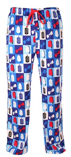 Doctor Who: Fez and Bow Tie Square Pajama Pants