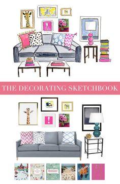 The Decorating Sketchbook #behindthepalette www.evelynhenson.com