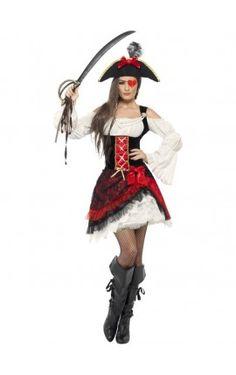 Señoras Caribe Pirata Peluca Ginger w//ginger Jack Sparrow Capitán Peter Pan