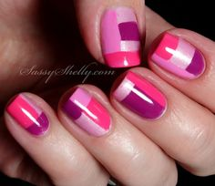 Digit-al Dozen DOES Monochrome Day 3: Pink Zoya Color-Blocking | Sassy Shelly