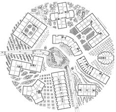 Pizza – plan: project of residential complexes in technopark Skolkovo.