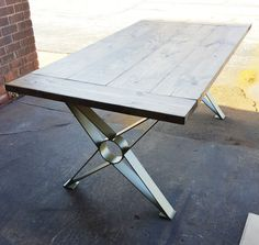 Modern Dining Table X Legs Industrial Legs from 3 x by DVAMetal