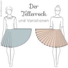 The circle skirt including variations- Der Tellerrock inklusive Variationen from mri: The plate skirt including variations instructions for calculating ! Diy Sewing Projects, Sewing Projects For Beginners, Sewing Hacks, Sewing Tutorials, Sewing Patterns, Sewing Tips, Diy Kleidung, Diy Mode, Clothing Hacks