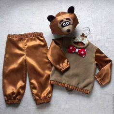 Купить Медведь Бурый костюм новогодний детский, мишка, медвежонок бурый - медведь костюм