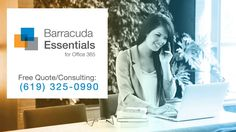 Barracuda Essentials for Office 365 Pricing. What's the cost per user for Barracuda Essentials? Managed It Services, Computer Service, Office 365, Free Quotes, Geeks, San Diego, Essentials, Group, Learning