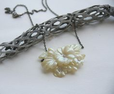 pearly petals // vintage bib necklace by XhereliesbootsX on Etsy